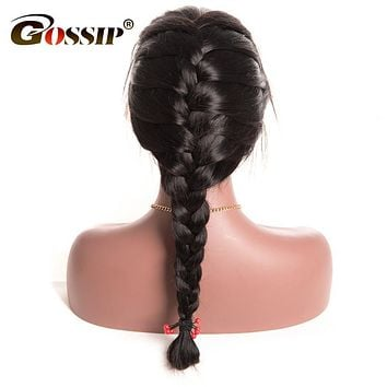Gossip Pre Plucked 360 Lace Frontal Wig Brazilian Straight Human Hair Wigs For Black Women 5 Inch Swiss Lace Front Wig Non Remy