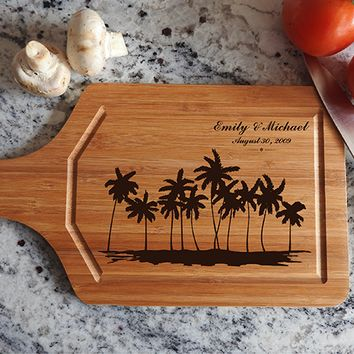 ikb619 Personalized Cutting Board Costa Rica beaches wooden wedding gift wedding