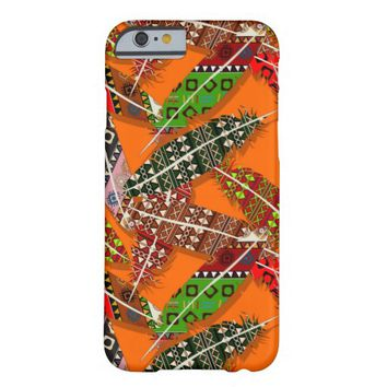 Cute Colorful Tribal Aztec Ikat Feathers Pattern Barely There iPhone 6 Case