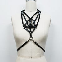 Zana Bayne Leather                                                                                   — Necklace Harness**more colors
