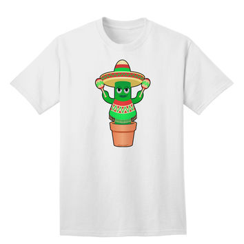 Fiesta Cactus Poncho Adult T-Shirt