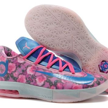 Nike Zoom KD 6 Kevin Durant ¢ö ¡±Rose Blue¡° Basketball Shoes
