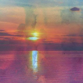 BEACH HAZE SUNSET VINYL BACKDROP - 3X4 - LCBD2253 - LAST CALL
