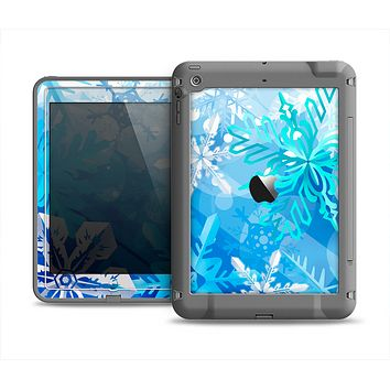 The Winter Abstract Blue Apple iPad Air LifeProof Fre Case Skin Set