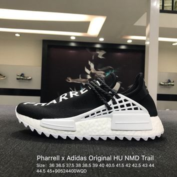 sports shoes 196d9 60231 Pharrell x Adidas Original HU Human Race Tr HU NMD Black White D