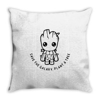 baby groot Throw Pillow
