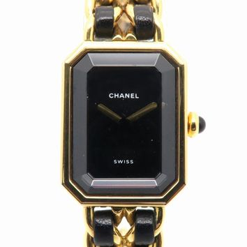 CHANEL Premiere M Watch Metal Quartz Black H0001 4027