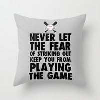 Don't Let it Keep You From Playing Throw Pillow by LookHUMAN