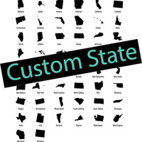 Custom State Sign YOUR CHOICE Print Custom Wood Sign Unique Trendy Dorm Room