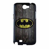 Batman Logo On Wood Samsung Galaxy Note 2 Case
