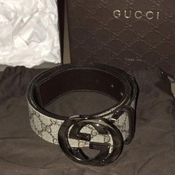 GUCCI Girls Boys Belt Woman Men Leather Belt