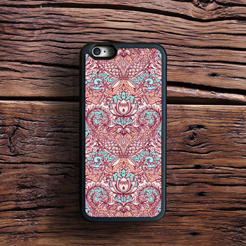 Natural Rhythm - a hand drawn pattern in peach, mint & aqua Case iPhone 6s Plus, iPhone 6 case, iPhone 5s 5C 4s Case, Samsung Case, iPod case, iPad Case, HTC Case, Nexus Case, LG case, Xperia case
