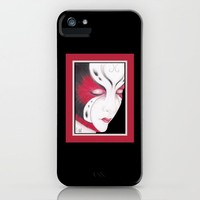 Butterfly Girl #4 iPhone Case by drawingsbylam