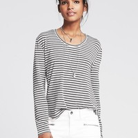 Banana Republic Womens Striped Modal Tee