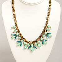 Old Hollywood Glamour Mint Green Necklace