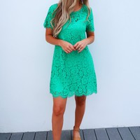 Turn On The Charm Dress: Jade