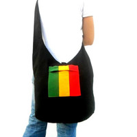 Crossbody Rasta Bag Bohemian Marley Bag Hobo Bag Hippie Bag  Shoulder Bag Purse Handbag boho Gift Thai Bag jamaica Bag Everyday Bag Gift