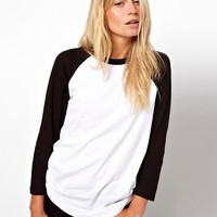 ASOS Colour Block Baseball Top at asos.com