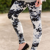 Elegant Floral Leggings