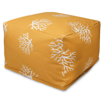 Yellow Coral Large Ottoman