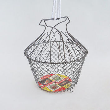 French Collapsible Wire Basket