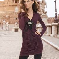 V-Neck Ruched Tunic Tee  - Newport News