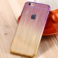 New Laser Transparent Protective Case for iPhone 5S 6 6PLUS