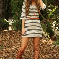 What About Your Love Dress: Taupe/Gray