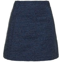 Textured Scallop Pelmet Skirt