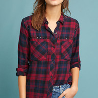 Rails Studded Plaid Buttondown