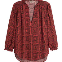 H&M Patterned Blouse $24.99