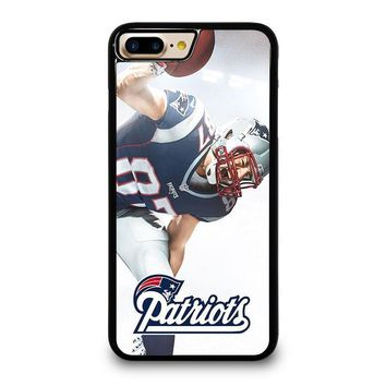 rob gronkowski new england patriots iphone 4 4s 5 5s se 5c 6 6s 7 8 plus x case  number 1