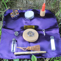 Pocket altar, a travel altar, portable altar kit or a starter set for your wiccan supplies