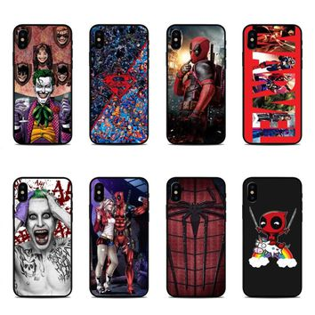 Deadpool/iron Man/ Marvel Avengers KingKong Star Wars Hard Phone Case Cover For iPhone 5 5s SE 6 6SPlus 7 7Plus 8 8 Plus X 10