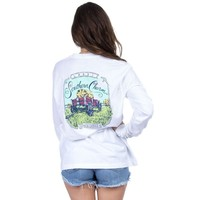 Classic Southern Charm Long Sleeve in White by Lauren James - FINAL SALE