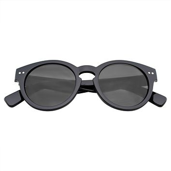 Dapper Vintage Inspired Round Keyhole Sunglasses
