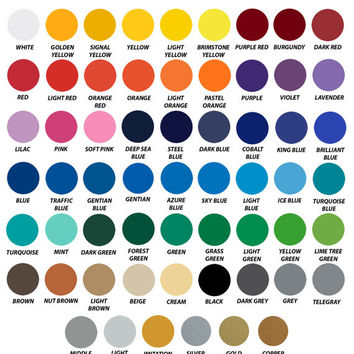 "63 sheets- 1 of each color - Special Box 12""x12"" Oracal 651"