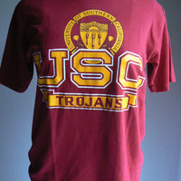 Vintage University of Southern California t shirt USC Go Trojans