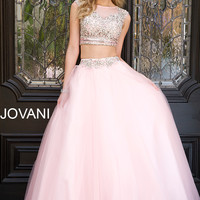 Two-Piece Pink Dress 24344 - Prom Dresses