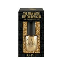 O.P.I Limited Edition The Man With The Golden Gun Top Coat With 18k Gold Leaf at asos.com