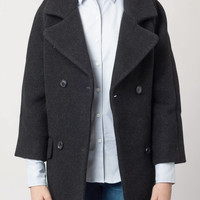 Cocoon Coat Charcoal Grey