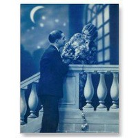 Moonlight Passion Vintage French Postcard