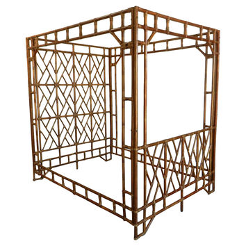One Kings Lane - Fantasy Island - Hollywood Regency Bamboo Canopy Bed
