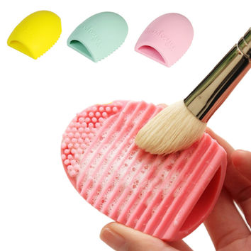 New Pop Brushegg Cleaning Make up Washing Brush Silicone Glove Scrubber Cosmetic Foundation Powder Clean Tools Brush Egg