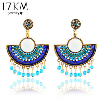 New hot sale fashion Bohemia charms womens vintage dangle earrings Exaggeration Feather beads big drop earring jewelry 2015 M11