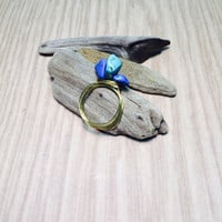 Beach Stone wire-wrap ring.