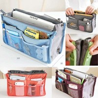 Lady Women Insert Handbag Organiser Purse Large liner Organizer Bag Ti