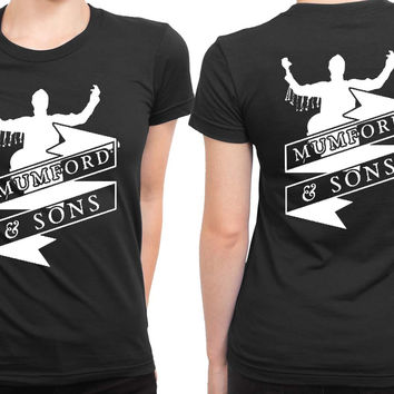 Mumford And Sons Logo On Concert 2 Sided Womens T Shirt