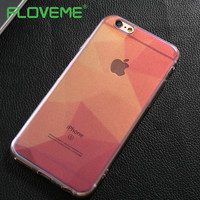 FLOVEME Blue Ray Light Case Cover For iPhone 6 6S Plus i 7 Plus Phone Cases Slim Funny Silicone Transparent For iPhone 7 Fundas