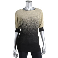 NY Collection Womens Knit Metallic Pullover Sweater